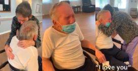Sposati da 60 anni e separati dal Covid: anziani si riabbracciano tra le lacrime dopo 215 giorni