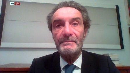 """Fontana a SkyTg24: """"Non escludo l'ipotesi di un lockdown in Lombardia"""""""