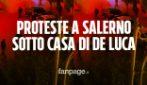 Proteste a Salerno contro il coprifuoco e il nuovo Dpcm: manifestanti sotto casa di Vincenzo De Luca