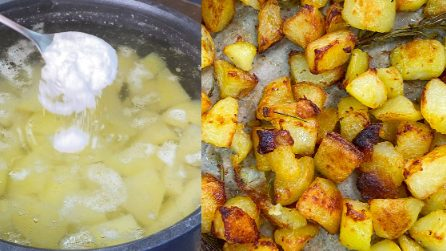 Perfect roasted potatoes: the tips to make them soft on the inside and crunchy on the outside!