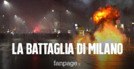 La protesta violenta anti Covid arriva a Milano: corteo in centro con molotov, spranghe e catene
