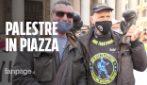 """La protesta delle palestre: """"Fateci riaprire"""". Gasparri cacciato dalla piazza"""