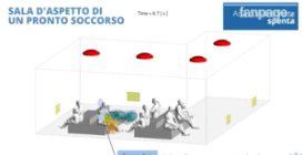 Simulazione 3D mostra la diffusione di droplet e aerosol in un locale chiuso dopo un colpo di tosse