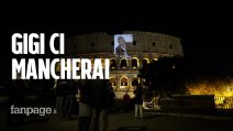 """Gigi Proietti, la foto sul Campidoglio e Colosseo: """"Ci mancherai"""""""