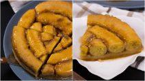 Torta invertida de banana: cada mordida vai ser uma delícia!