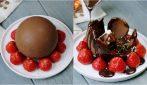 Palla di cioccolato: l'idea incredibile per servire il dessert!
