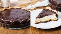 Bolo cookie de chocolate e creme: o doce sem assar perfeito para um jantar com amigos!
