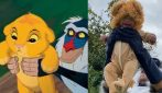 Rafiki e Simba: il travestimento del padre, insieme al figlio come nel Re Leone