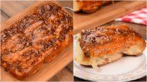 Cinnamon rolls com caramelo e nozes: os rolinhos de canela fofinhos que vão te dar água na boca!