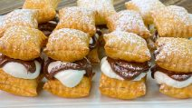 Puff pastry squares: a sweet treat ready in 15 minutes!
