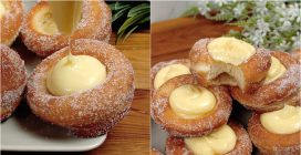 Cream donuts: the result is just irresistible!