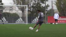 Allenamento Real Madrid, un bolide di Marcelo finisce all'incrocio