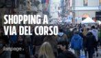 Roma, il Black Friday a via del Corso tra shopping e prime luminarie