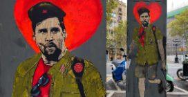 """Barcellona, il murales di Messi che contiene dei """"messaggi subliminali"""""""