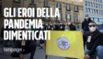 """Palermo, la protesta degli operatori 118: """"Altro che eroi, siamo stati dimenticati"""""""