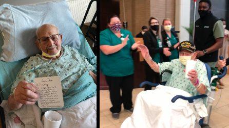 Sconfigge il coronavirus a 104 anni: dimesso nel giorno del suo compleanno