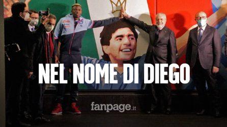 """Inaugurazione della stazione Maradona, De Laurentiis: """"Il San Paolo deve chiamarsi Maradona Stadium"""""""