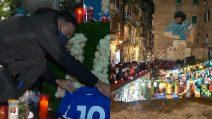 Quagliarella e la Sampdoria ai Quartieri Spagnoli: l'omaggio a Diego Armando Maradona