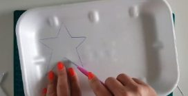 How to reuse polystyrene trays and make beautiful Christmas ideas