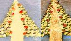 Albero di Natale salato di pasta sfoglia: l'idea originale per servire l'antipasto!