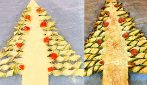 Savory puff pastry Christmas tree: a unique idea ready in 20 minutes!