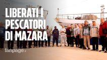 Pescatori liberi dopo 108 giorni di prigionia in Libia, la gioia dei familiari a Mazara del Vallo
