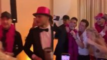 Grande festa per Wanda Nara: scatenata con Icardi e altri compagni di squadra
