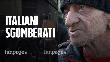 """Roma, gli italiani sgomberati dall'ex Penicillina: """"Salvini i migranti l'ultimo dei problemi"""""""