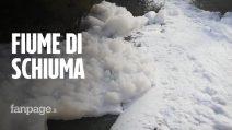 """Il fiume Sacco si riempie di schiuma: """"Scaricati residui chimici senza depurazione"""""""