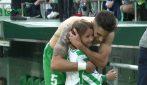 Il grande cuore di Marc Bartra: la bambina piange di gioia