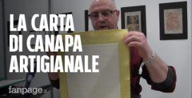 Sandro, il maestro artigiano che crea la carta di canapa