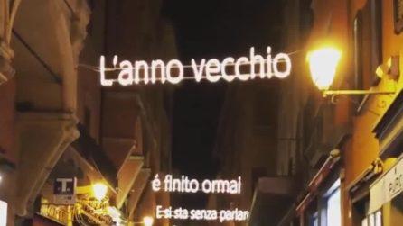 A Bologna le luminarie di Natale in onore di Lucio Dalla