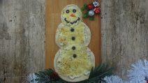 Pupazzo di neve di pizza: un'idea meravigliosa per Natale!