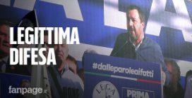 """Salvini su legittima difesa: """"Io sto con Fredy e con chi è costretto a difendersi. La casa è sacra"""""""