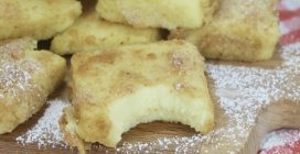 Fried sweet milk: creamy on the inside and crunchy on the outside!