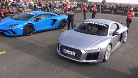 Audi R8 vs Lamborghini Aventador: la sfida non è scontata come sembra