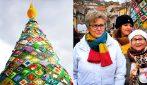 Trivento capitale dell'uncinetto: dopo il tappeto più lungo del mondo ecco l'albero di Natale