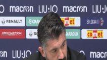 """Milan, Gattuso: """"Abbiamo fatto il solletico al Bologna"""""""