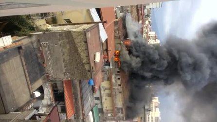 Pagani, incendio devasta un appartamento