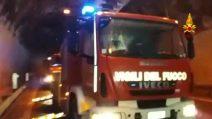 Strada Ofantina come un frigorifero: ghiaccio in galleria, intervengono i pompieri