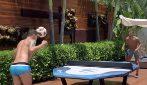 Thiago Silva sfida l'amico a teqball: il calcio misto al ping pong