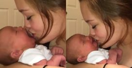 Gioca con il suo piccolo nato da poco: la dolcissima scena