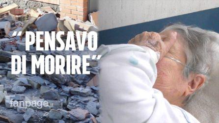 """Terremoto Catania, un'anziana ferita: """"Pensavo di morire come un topo, la scala è crollata"""""""