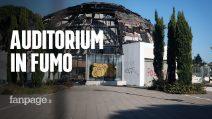 Roma, cosa resta dell'Auditorium Pineta Sacchetti a due anni dal rogo