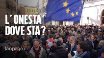 """Protesta Pd a Montecitorio: """"Costituzione calpestata da Lega e M5s"""""""
