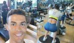 Allenamento in famiglia: Cristiano Ronaldo in palestra con Giorgina e Cristiano Jr
