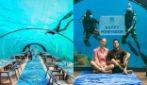 La luna di miele di Fedez e Chiara Ferragni: a cena nel ristorante sottomarino più grande del mondo