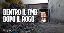 """Roma, dentro il Tmb un mese dopo l'incendio: """"Tonnellate di rifiuti marciscono a cielo aperto"""""""