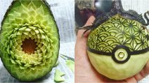 """He turns fruits and vegetables into works of art: here are Gaku's extraordinary """"food sculptures"""""""