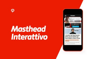 Masthead Interattivo Mobile per 01 Distribution